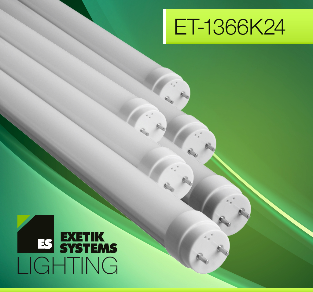 Exetik™ T8/T12 8W LED Tube 2 Ft