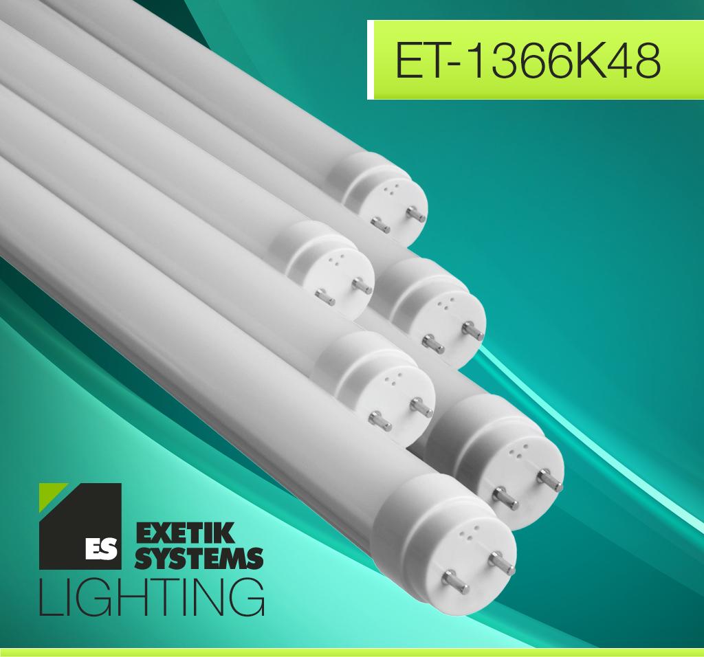 Exetik™ T8/T12 18W LED Tube 4 Ft