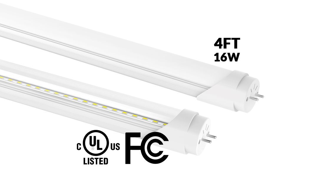 Exetik T8 16w Ul Fcc Led Tube 4 Ft Pure White Exetik